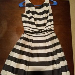 Striped Black and Gold Dress